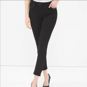WHBM City Knit Ponte Faux leather skinny pants NEW